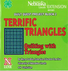 4-H Terrific Triangles - Quilt Quest Project Block 2 4H1330