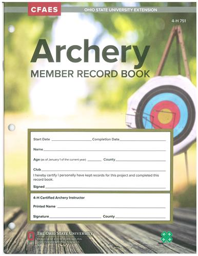 4-H Archery Member Record Book 4H751