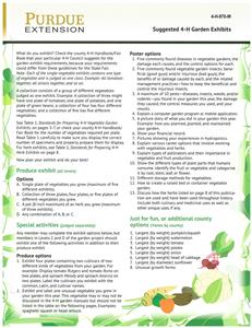 4-H Gardening Exhibitors Guide 4H970W