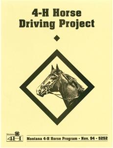 4-H Horse Driving Project Manual 5252