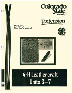 4-H Leathercraft - Units 3-7 CO2003C