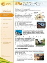 Solar Hot Water: Building and Site Assessment E3A-SHW.1