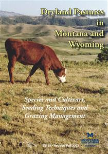 Dryland Pastures in Montana and Wyoming EB0019