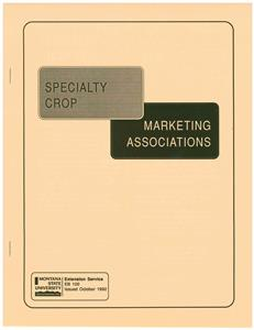 Specialty Crop Marketing Associations EB0100
