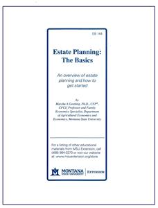 Estate Planning: The Basics EB0144