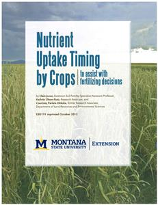Nutrient Uptake Timing by Crops to assist with fertilizing decisions EB0191