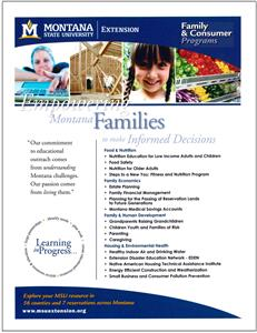 Family & Consumer Programs Promotional Flyer AD0057