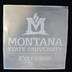 Silver MSU Extension Stickers (25/unit) AD0109