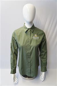 Ladies Clover Green Long-Sleeve Shirt AD0188