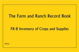 FR8 - Farm and Ranch Record Book - Inventory of Crops and Supplies 2P002J