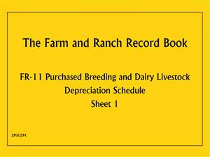 FR11 - Farm and Ranch Record Book - Purchased Breeding and Dairy Livestock Depreciation Schedule 2P002M