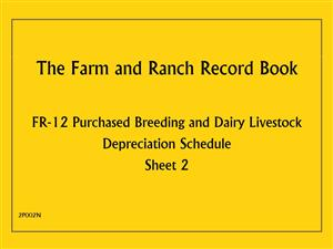 FR12 - Farm and Ranch Record Book - Purchased Breeding and Dairy Livestock Depreciation Schedule 2P002N