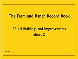 FR14 - Farm and Ranch Record Book - Buildings and Improvements 2P002P