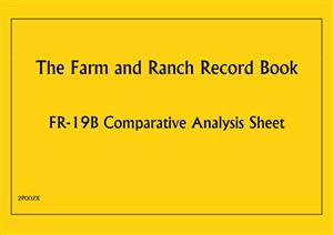 FR19B - Farm and Ranch Record Book - Comparative Analysis Sheet 2P002X