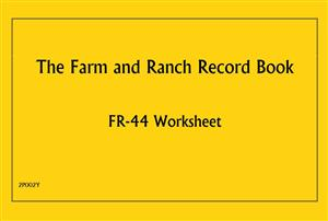 FR44 - Farm and Ranch Record Book - Worksheet 2P002Y