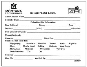 4-H Range  Plant Labels (Pads of 25=1) 2FM203