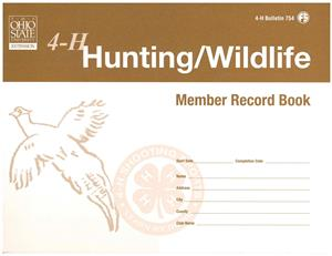 4-H Hunting/Wildlife Member Record Book 4H754
