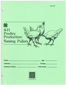 4-H Poultry Production: Raising Pullets OH151