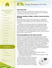 Energy Management for Home: Carbon Monoxide E3A-EMH.13