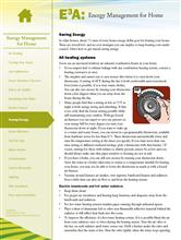 Energy Management for Home: Saving Energy E3A-EMH.8