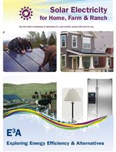 Solar Electricity for Home, Farm & Ranch Folder E3A-SE