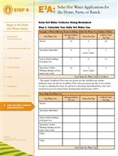 Solar Hot Water: Solar Hot Water Collector Sizing Worksheet E3A-SHW.8