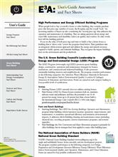User's Guide: Green Building Fact Sheet E3A-UG.4