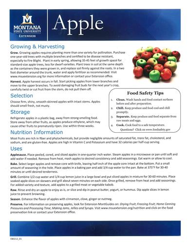 Food Fact Sheets EB0212
