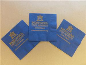 Blue MSU Extension Napkins (25) per unit AD0034