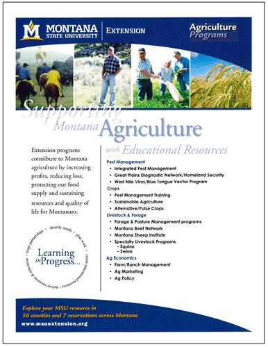 Agriculture Programs Promotional Flyer AD0053