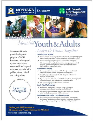 4-H Youth Development Program Promotional Flyer AD0055