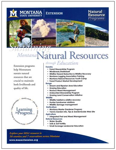 Natural Resource Programs Promotional Flyer AD0056