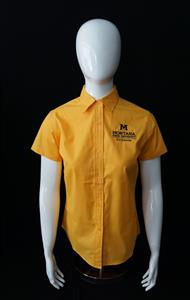 Ladies Gold Easy Care Short Sleeve Shirt AD0094