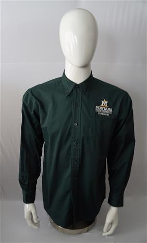 Mens Dark Green Long-Sleeve Shirt - Montana State University Extension