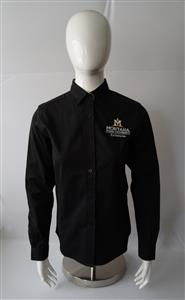 Mens Black Easy Care Long Sleeve Shirt AD0100