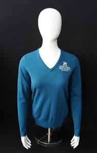 Ladies Teal V-neck Sweater AD0168