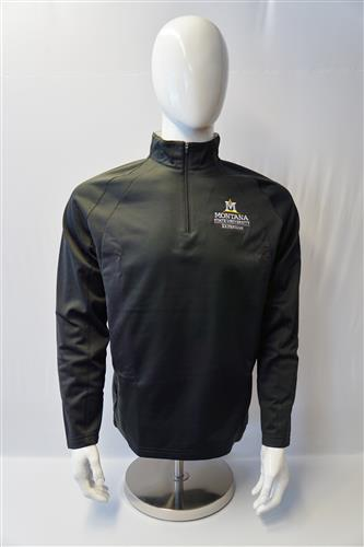 Mens 1/4 Zip Black Pullover Copy AD0171