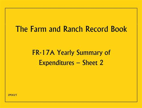 (F/R RB) Yearly Summary of Expenditures Sheet 2 2P002T