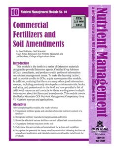 Nutrient Management Module 10 Commercial Fertilizers and Soil Amendments 4449-10