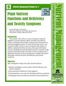 Nutrient Management Module 9 Plant Nutrient Functions and Deficiency and Toxicity Symptoms 4449-9