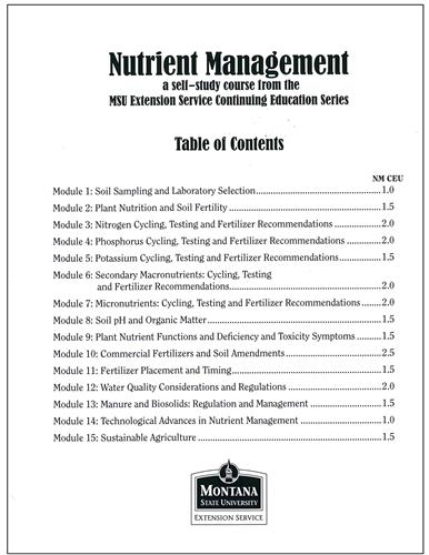 Nutrient Management Module (Complete) 4449