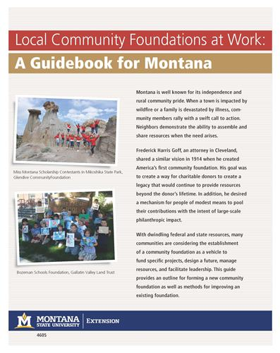 Local Community Foundations at Work: A Guidebook for Montana 4605